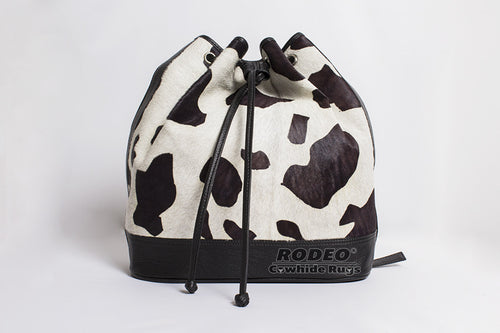 Glamourous RODEO Cowhide Leather Backpack - Rodeo Cowhide Rugs