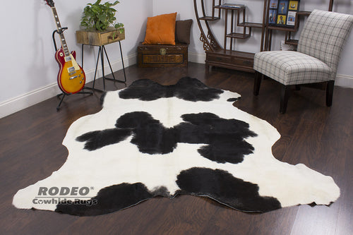 Black & White Cowhide Rug - Rodeo Cowhide Rugs