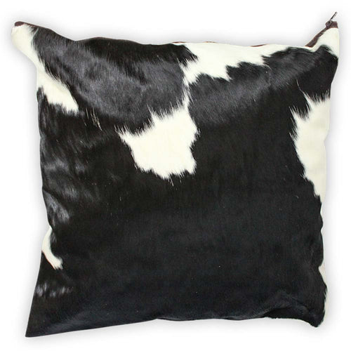 Black and White Traditional Cowhide Large Pillow Case