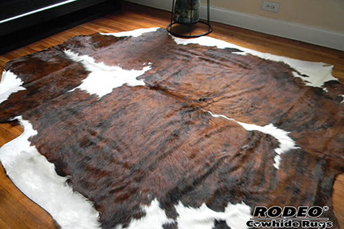 Brilliant Brindle Cowhide Rug - Rodeo Cowhide Rugs