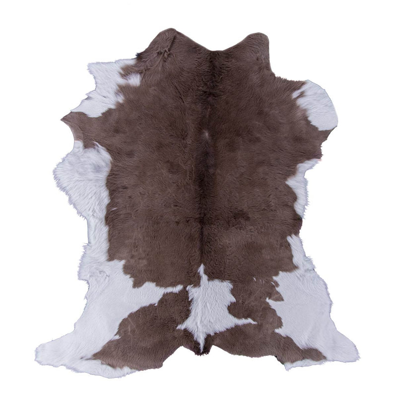Chocolate & Cream Calfskin - Rodeo Cowhide Rugs