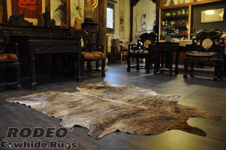 Gorgeous brindle cowhide rugs