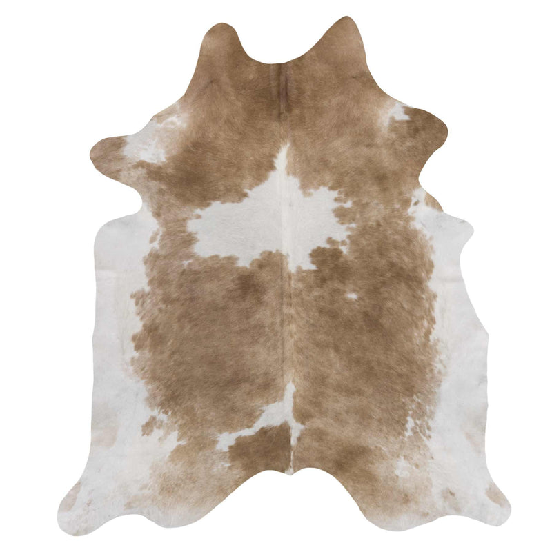 Pecan Brown & White Cowhide Rug - Rodeo Cowhide Rugs