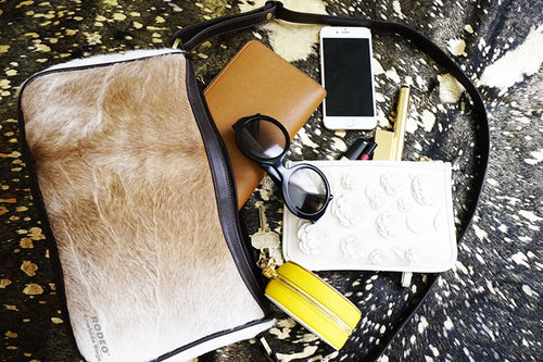 Beautiful and stylish leather purse made out of animal skin