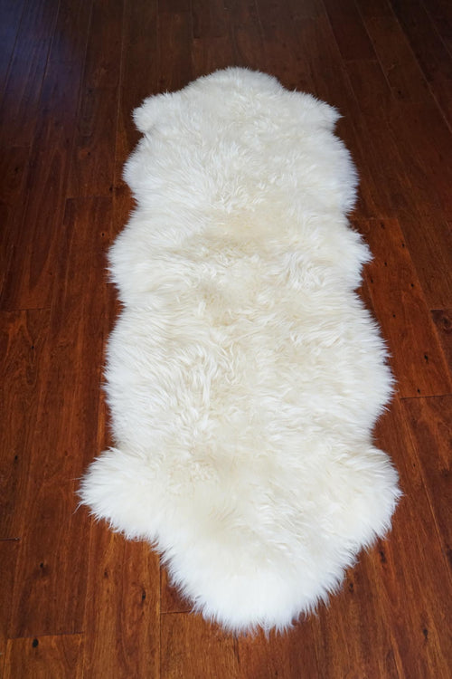 Authentic Australia Sheepskin 100% fur ivory home decoration carpet rug 2.8x6ft - Rodeo Cowhide Rugs