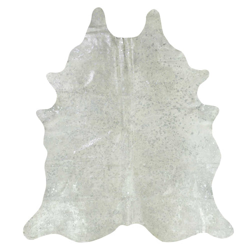 Silver Acid Wash Cowhide Rug - Rodeo Cowhide Rugs