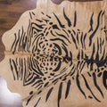 tiger cowhide