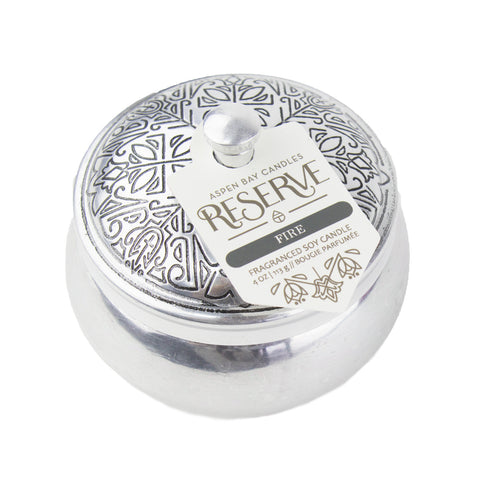 Aspen Bay Candles - Fire (4oz Silver Tin)