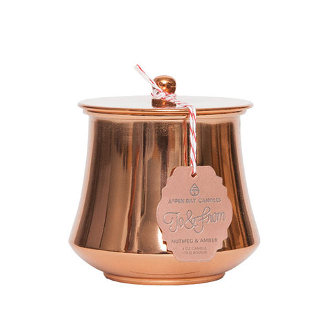 Aspen Bay Candles - Nutmeg & Amber Holiday jar (6 oz)