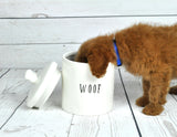 """Woof"" Dog Treat Jar"