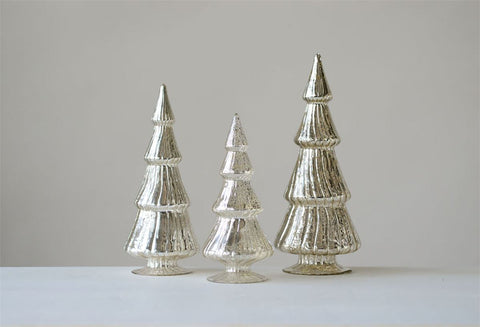 Mercury Glass Trees