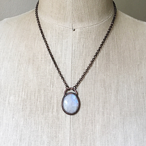 Rainbow Moonstone Necklace - Made to Order