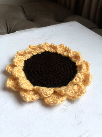 Sunflower Coaster - Made to Order by Chez Crochet