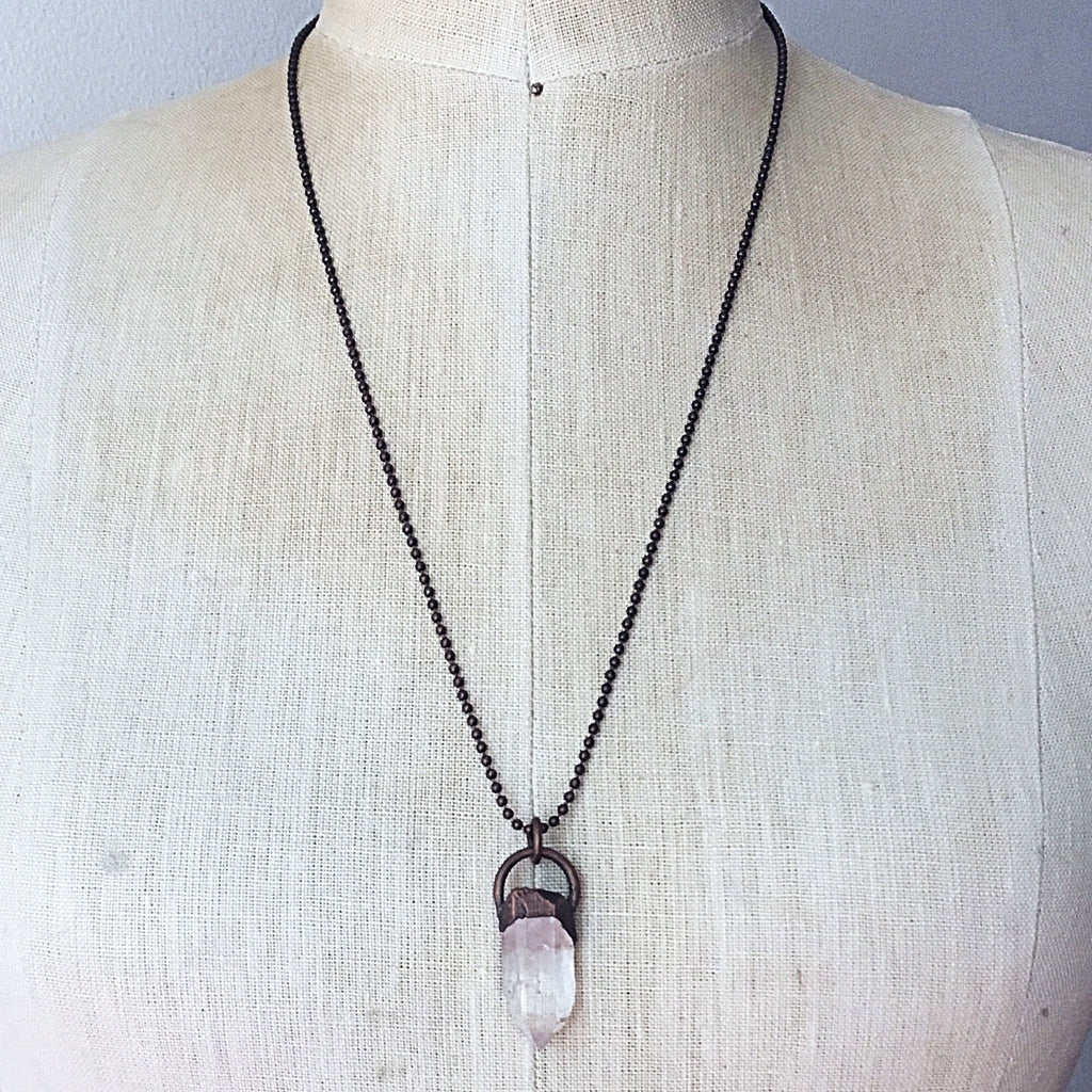 Raw Clear Quartz Point Necklace - Made to Order