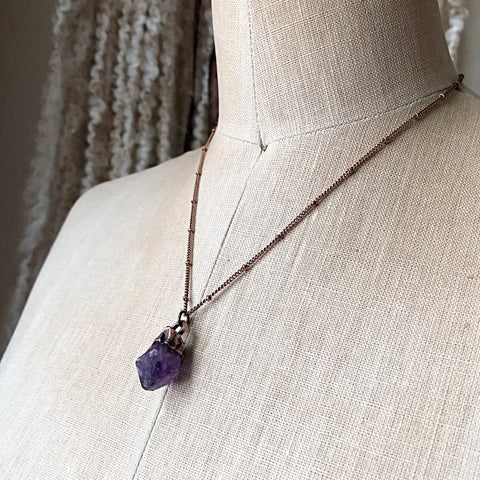 Raw Amethyst Point Necklace #2