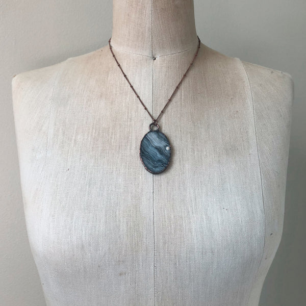 Chalcedony Oval Necklace #2 - Ready to Ship
