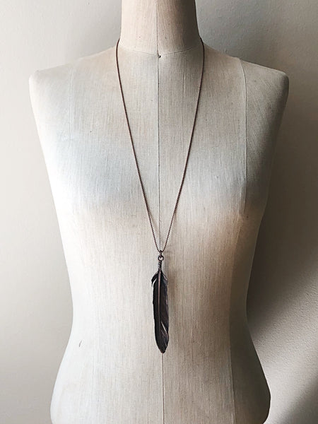 Electroformed Feather Necklace #3 - Ready to Ship (5/17 Update)