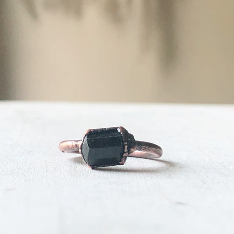 Dravite (Brown Tourmaline) Stacking Ring # 3 (Size 6.25)