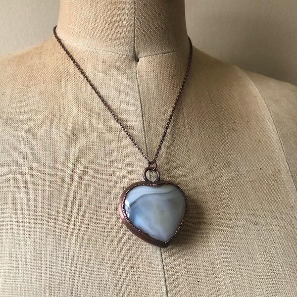 Botswana Agate Heart Necklace #5
