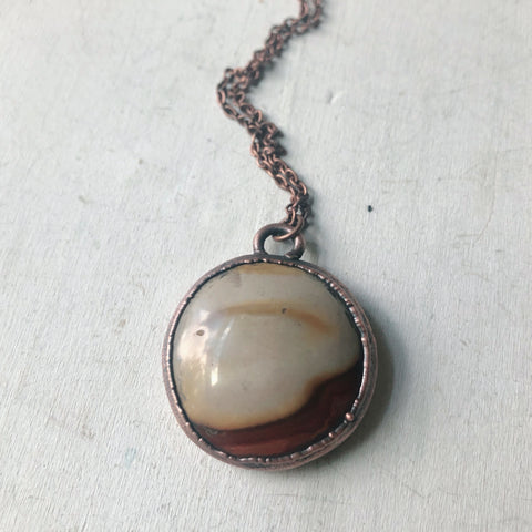 Polychrome Jasper Moon Necklace #2