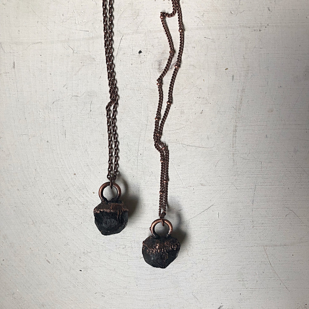 Raw Garnet Necklace - Ready to Ship