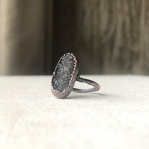 Druzy Portal of the Heart Ring #2 (Size 6.75) - Ready to Ship