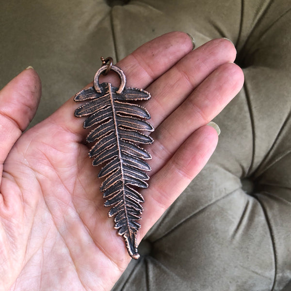 Electroformed Fern Necklace #3
