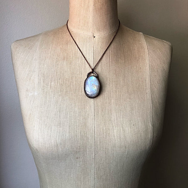Rainbow Moonstone Necklace #4 - Ready to Ship