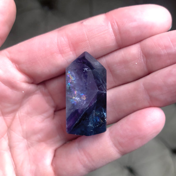 Fluorite Polished Point Necklace #2 - Equinox 2020