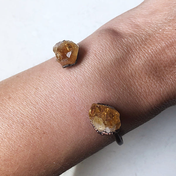 Raw Citrine Cuff Bracelet (Icarus Soaring Collection)