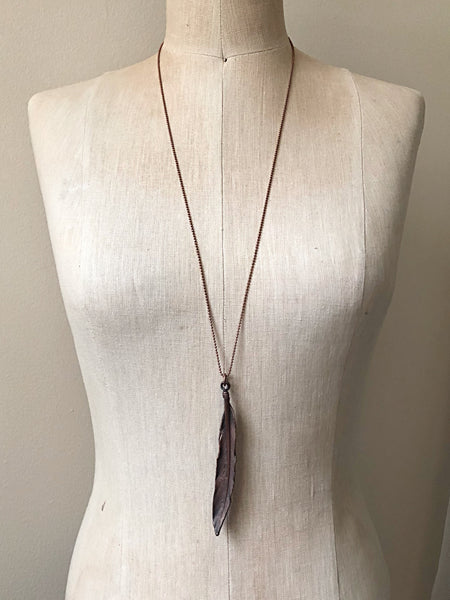 Electroformed Feather Necklace #1 (Satya Collection)
