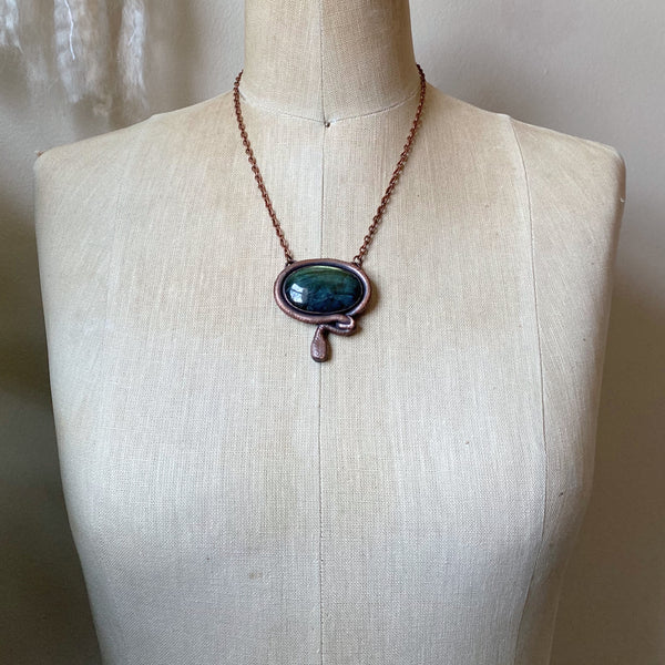 Labradorite with Sculpted Snake Necklace - Ready to Ship