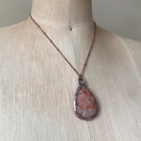 Teardrop Sunstone Necklace  - Ready to Ship