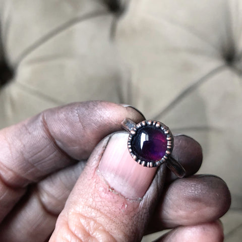 Amethyst Ring - Round #1 (Size 4.5) - Ready to Ship