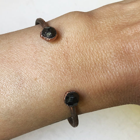 Raw Garnet Chakra Cuff Bracelet - Made to Order