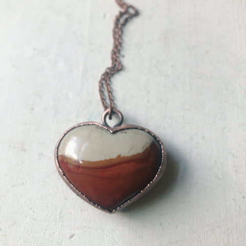 Polychrome Jasper Heart Necklace #2