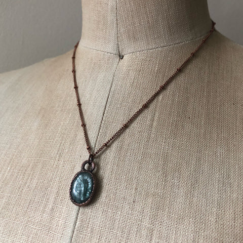 Polished Green Kyanite Necklace #1 - Ready to Ship