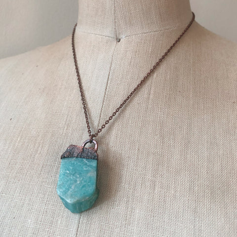 Raw Amazonite Necklace - Ready to Ship
