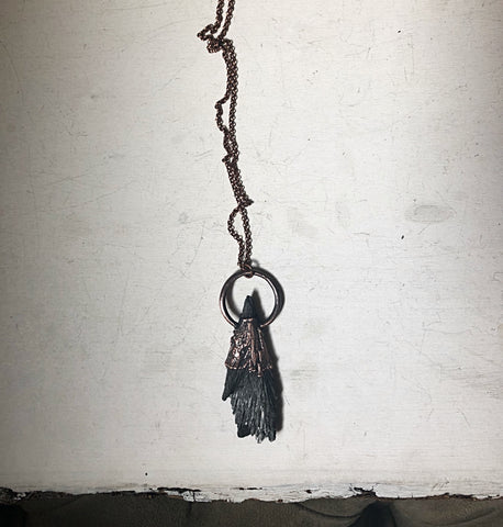 Black Kyanite Necklace #1 (Ready to Ship) - Darkness Calling Collection