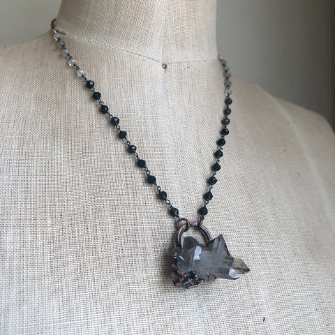 Smoky Quartz Cluster Necklace #1 - Ready to Ship