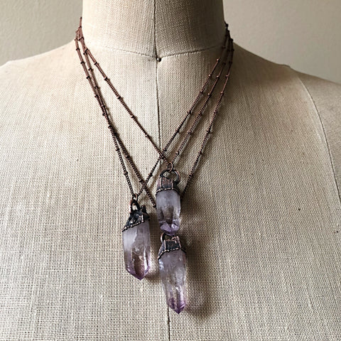 Vera Cruz Amethyst Point Necklace - Snow Moon Collection