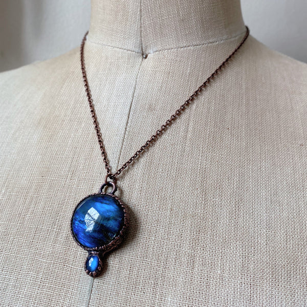 Labradorite Full Moon in Leo Necklace #2 - Ready to Ship