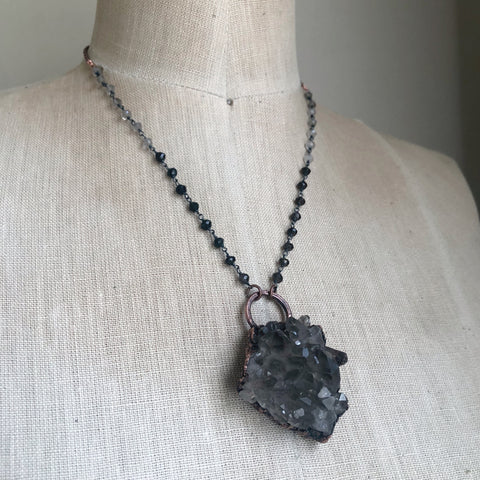 Smoky Quartz Cluster Necklace #3 - Ready to Ship