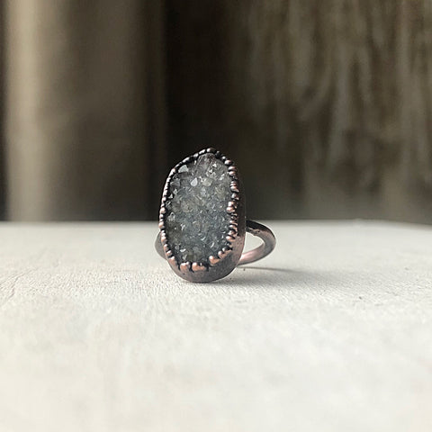 Druzy Portal of the Heart Ring #3 (Size 7) - Ready to Ship