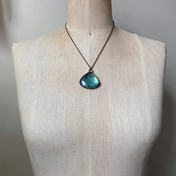 Labradorite Full Moon in Leo Necklace #5 - Ready to Ship