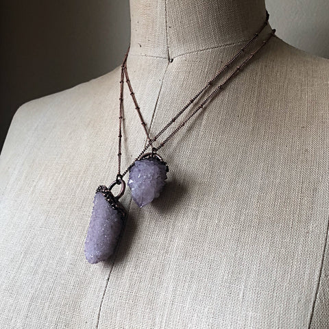 Amethyst Spirit Quartz Point Necklace - Ready to Ship