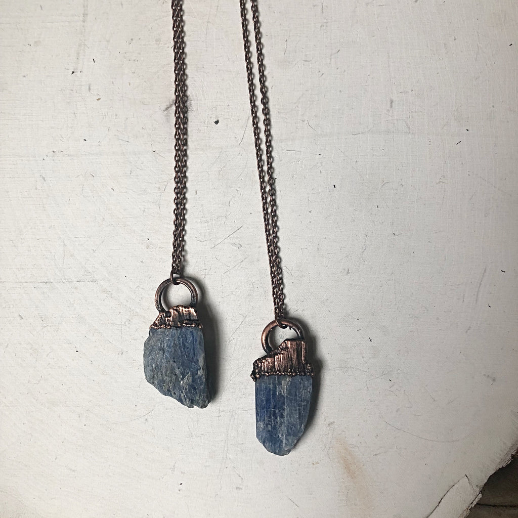 Raw Blue Kyanite Necklace - Made to Order