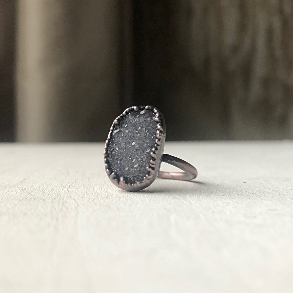 Druzy Portal of the Heart Ring #1 (Size 5.25-5.5) - Ready to Ship