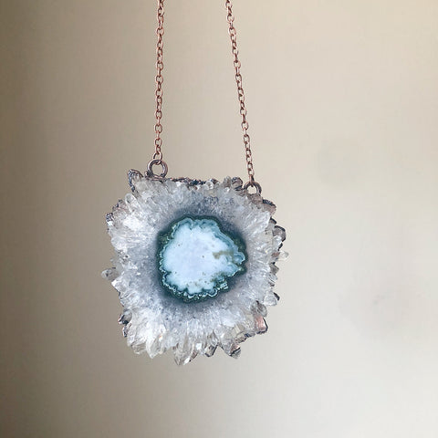 Stalactite Slice Necklace #1 - Ready to Ship