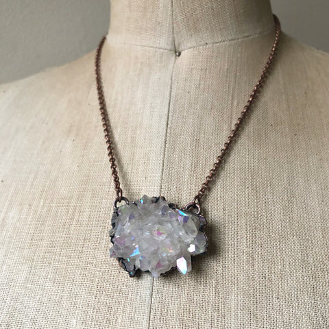 Angel Aura Cluster Necklace #1 - Ready to Ship